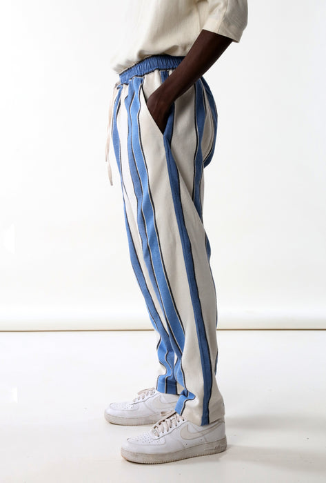 ELASTIC DROP CROTCH PANT : MIRRORED STRIPE