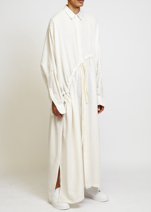 OVERSIZED LONG SHIRT WITH DRAWSTRING