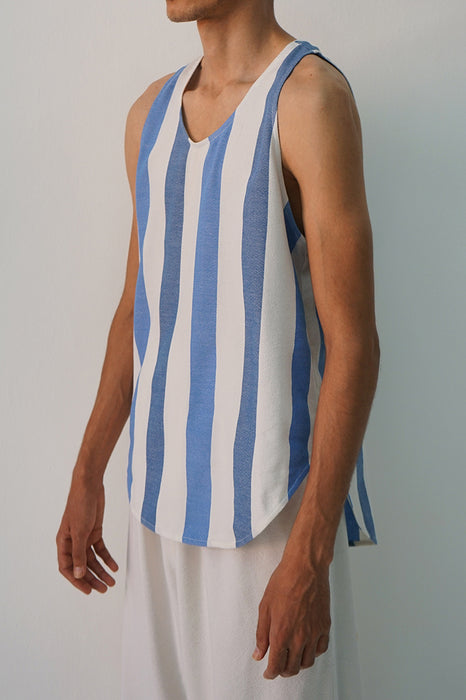 MARINE AND ROYAL ESCAPE STRIPE TANK TOP