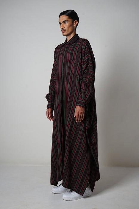 BLACK + MERLOT + FOREST OVERSIZED LONG SLEEVE SHIRT