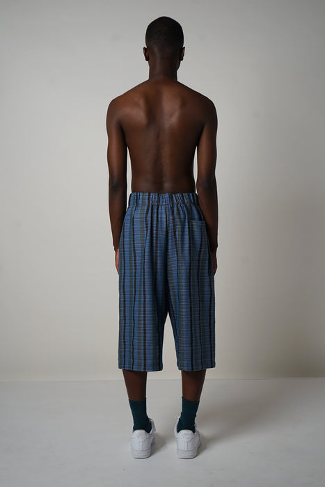 INDIGO STRIPE LONG SHORT