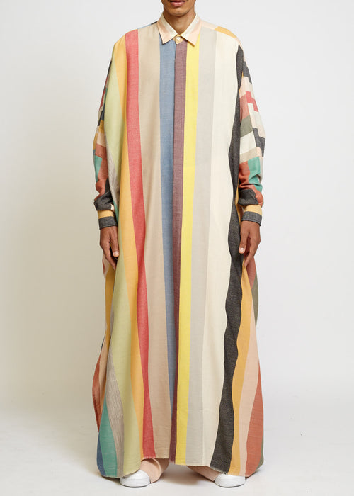 OVERSIZED LONG SHIRT : MULTI COLOR