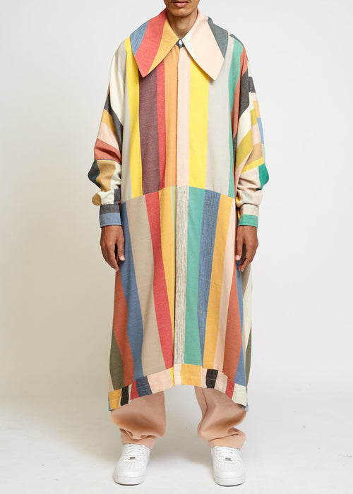OVERSIZED LONG SHIRT WITH LARGE COLLAR
