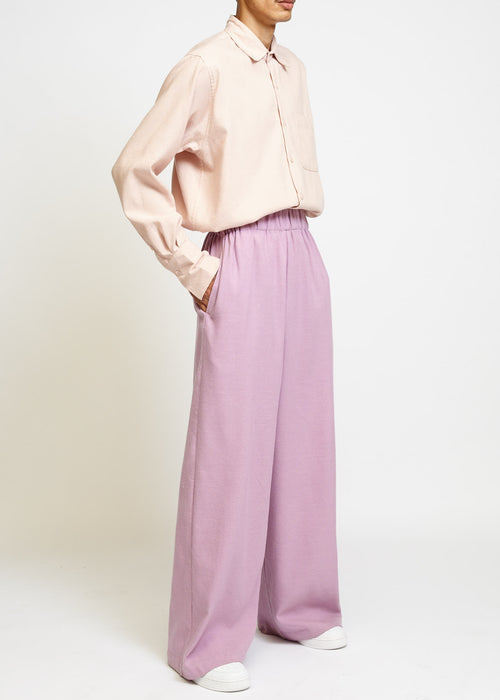 LAVENDER HIGH-WAISTED PALAZZO PANTS