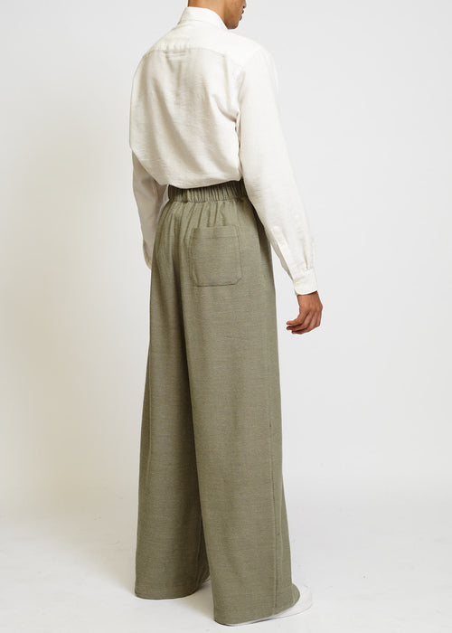 FOREST HIGH-WAISTED PALAZZO PANTS