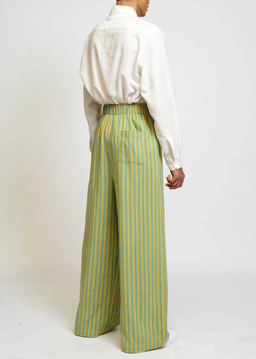 AQUA + BISSARA HIGH-WAISTED PALAZZO PANTS