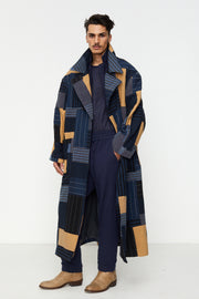 Patchwork Blanket Coat