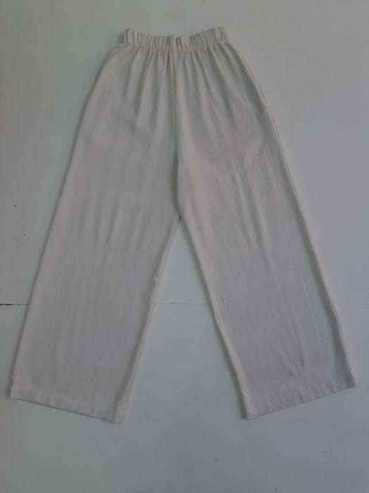 PALAZZO PANT IN ECRU SOLID