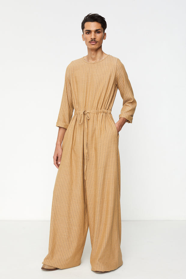 Round Collar Wide Leg Jumpsuit