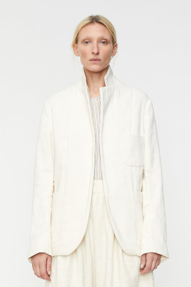 Soft Blazer Flatweave Cotton Flammé