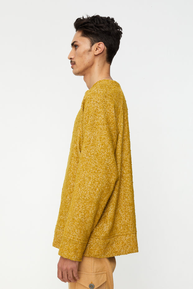 Sweatshirt Boucle Curry