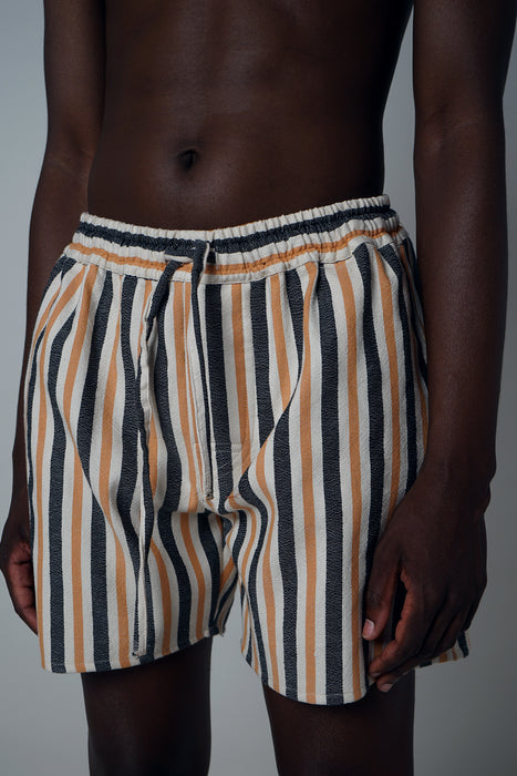TURMERIC + BLACK CROPPED SHORT
