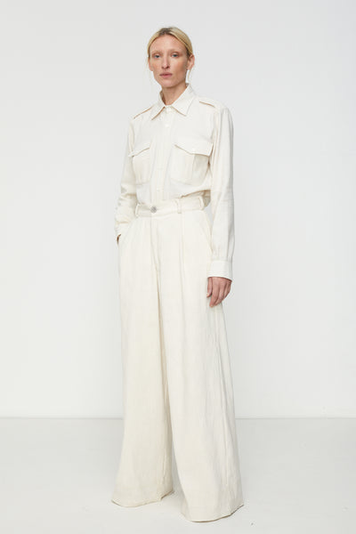 Wide Leg Pleated Trouser