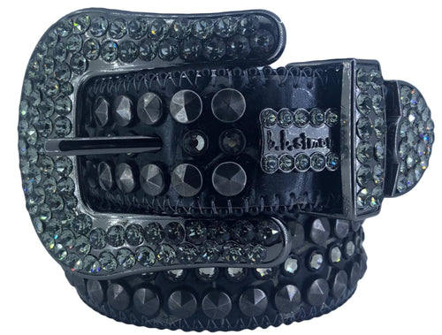 2008 D 73 - BB Simon Black Leather with Crystals Belt