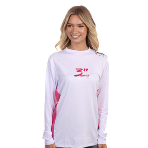 Barefoot In Public Women's Lobster Dive Flag Long Sleeve Performance Shirt