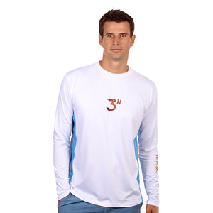 Barefoot In Public Men's Florida Lobster Long Sleeve Performance Shirt - Planet Ocean Edition