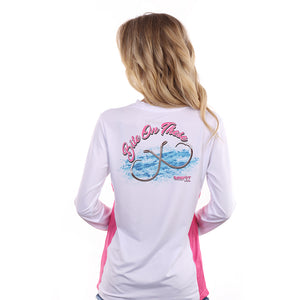 "Barefoot In Public Women's ""Bite On These"" Long Sleeve Performance Shirt"