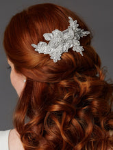Load image into Gallery viewer, Bridal hair comb Swarovski crystals designer handmade