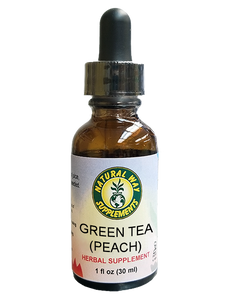Green tea-peach