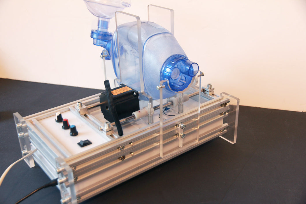 The robotized Ambu breathing system. Portable lungs ventilator