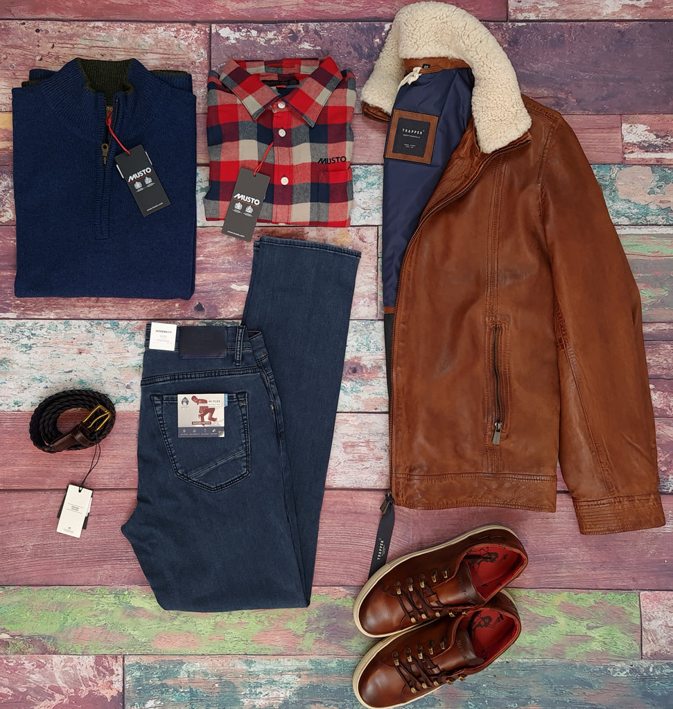 Trapper Winter Leather Jacket outfit