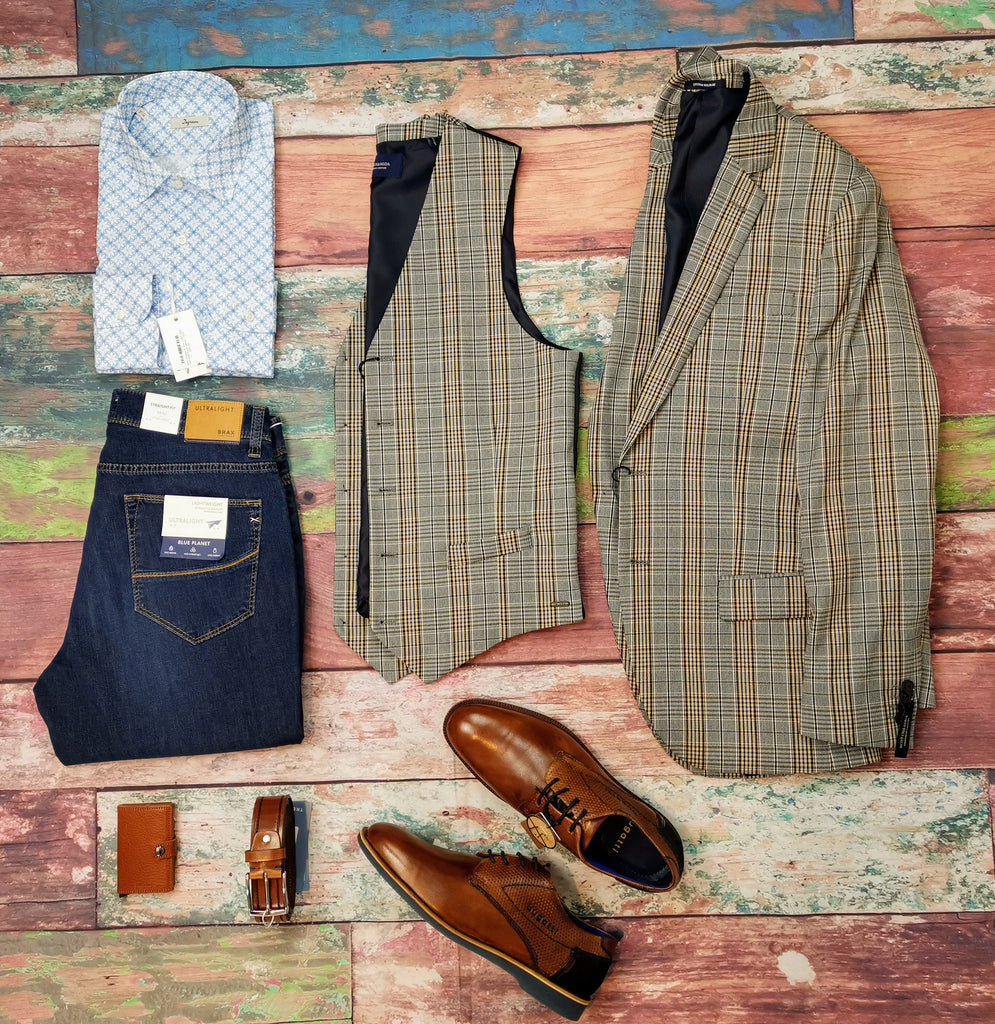 Summer Scotch & Soda Jacket and Waistcoat combo