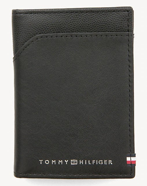 TOMMY HILFIGER CONTRAST LEATHER ID HOLDER