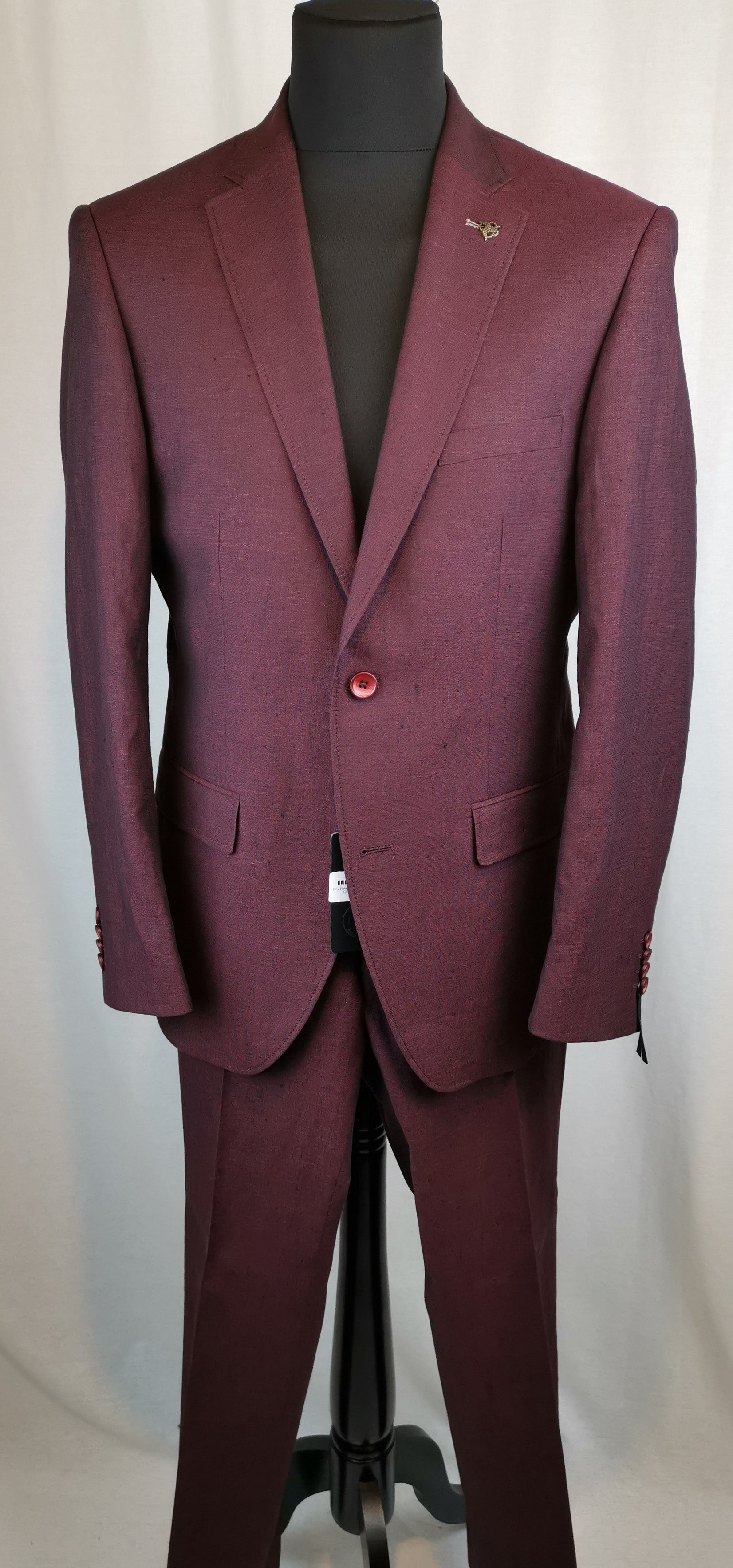 Roy Robson Burgundy Linen and Cotton Jacket