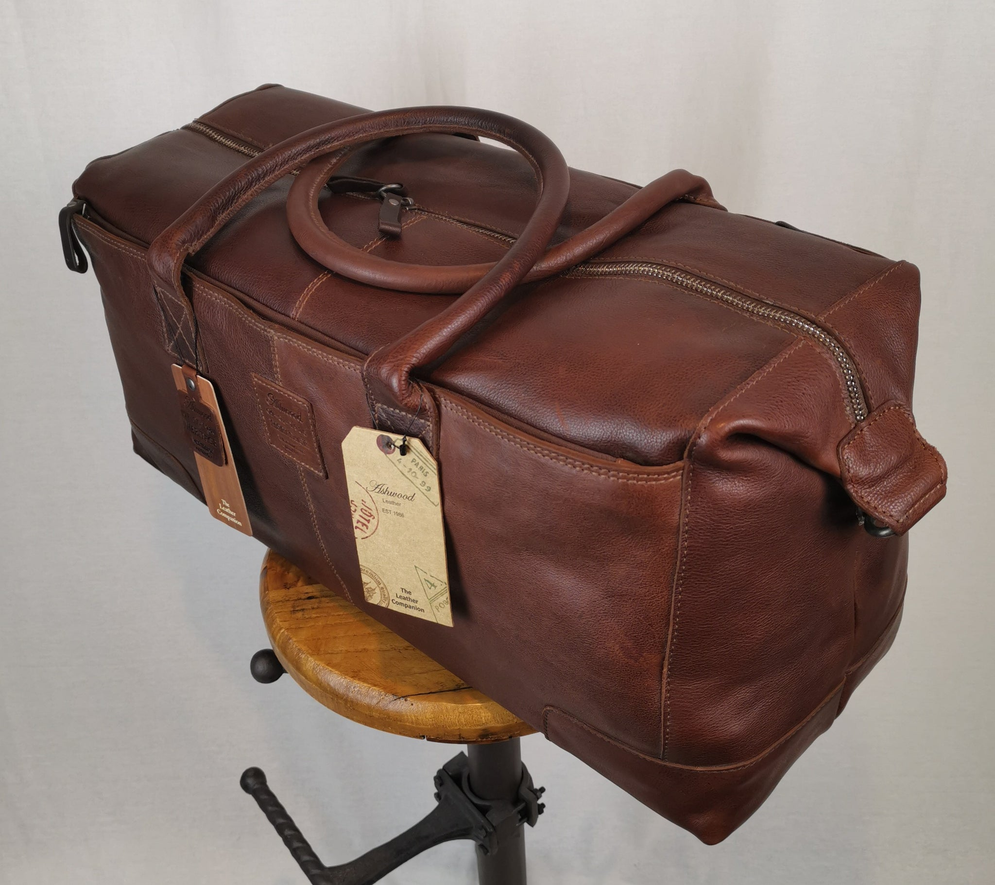 Ashwood Heritage Large Leather Holdall