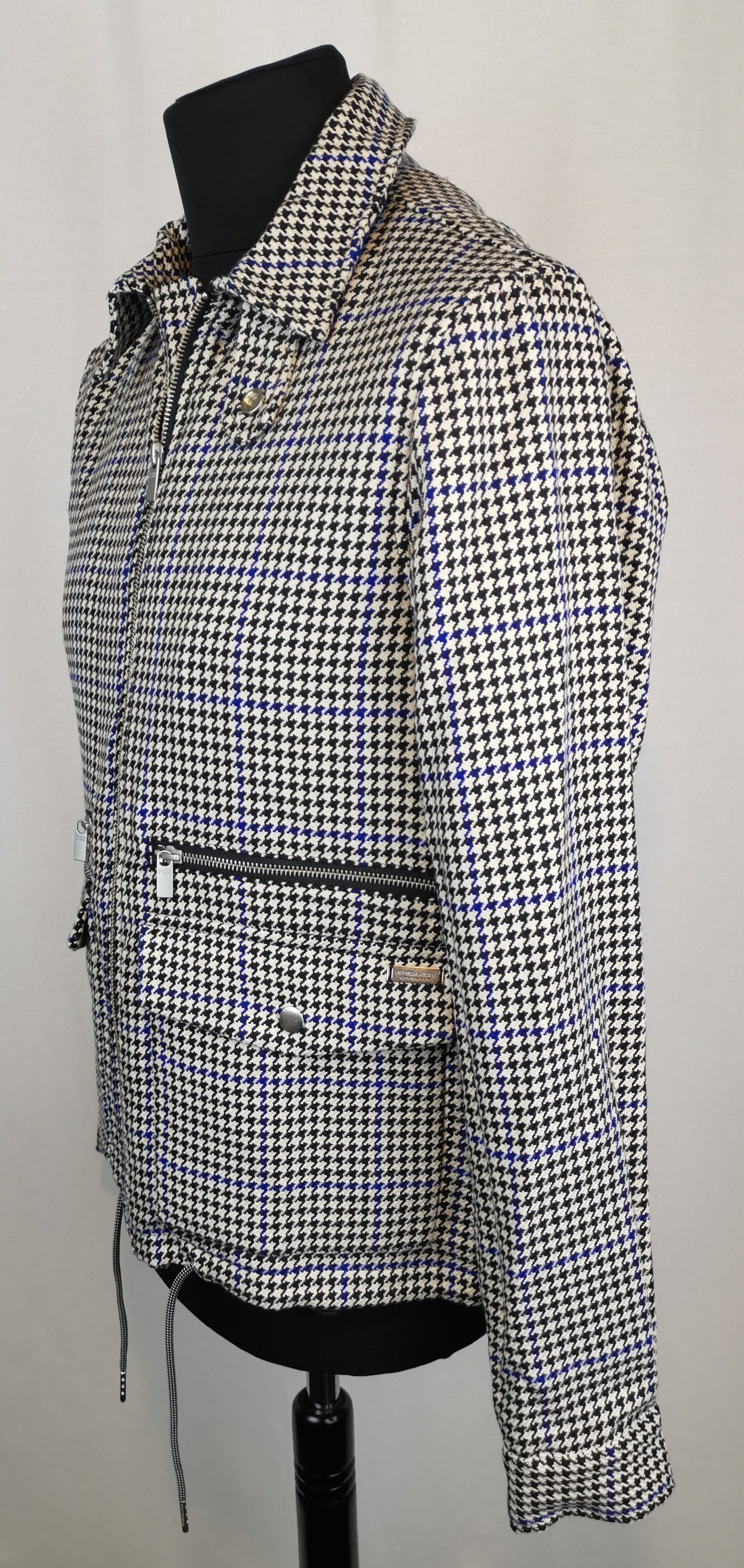 Scotch and Soda Houndstooth Bomber Jacket