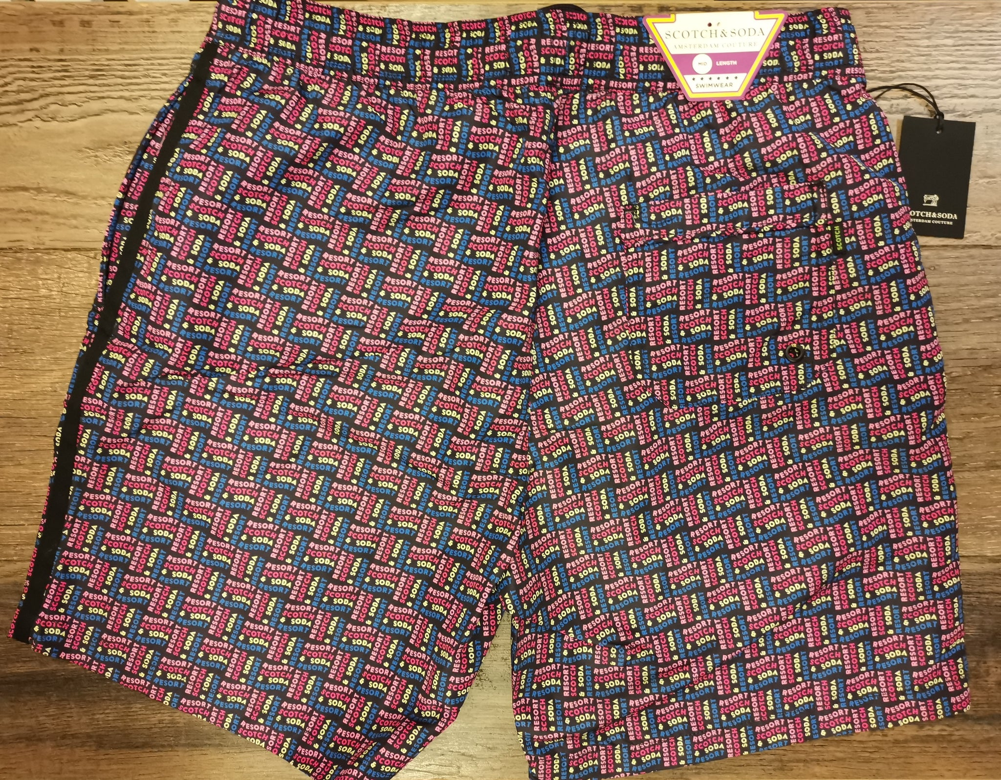 Scotch and Soda Mid-Length Printed Swim Shorts