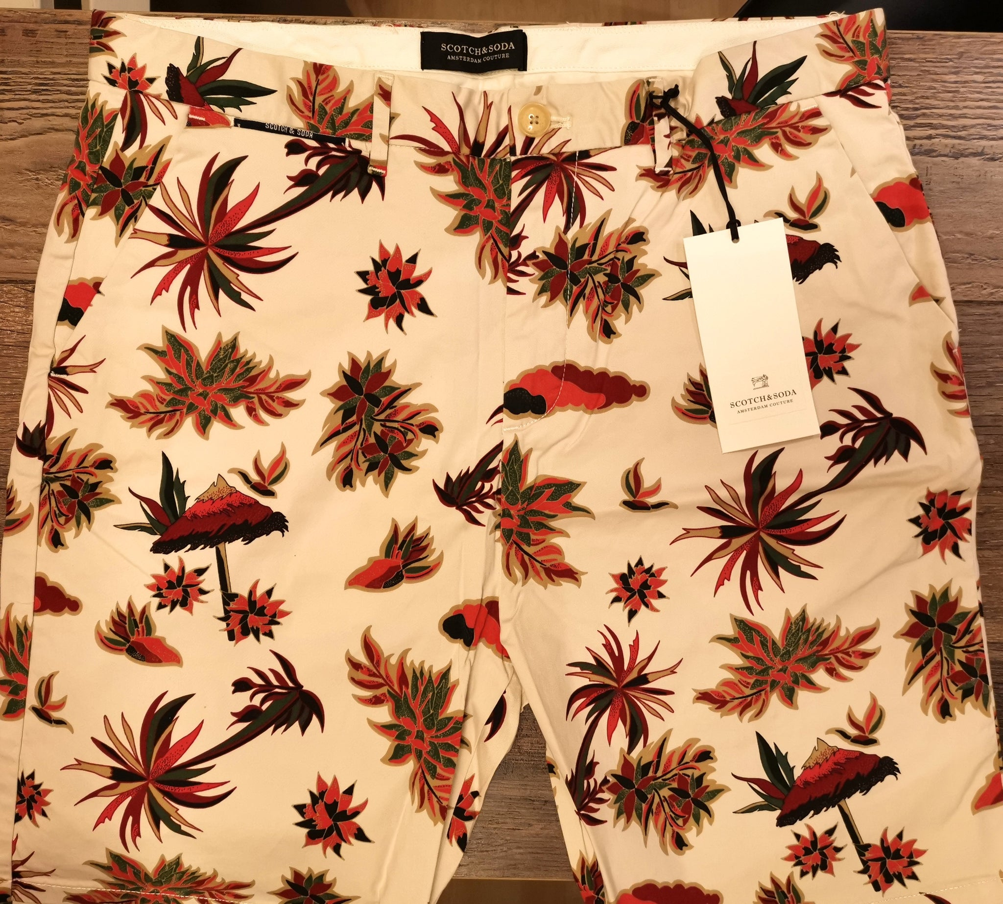 Scotch and Soda Printed Chino Shorts