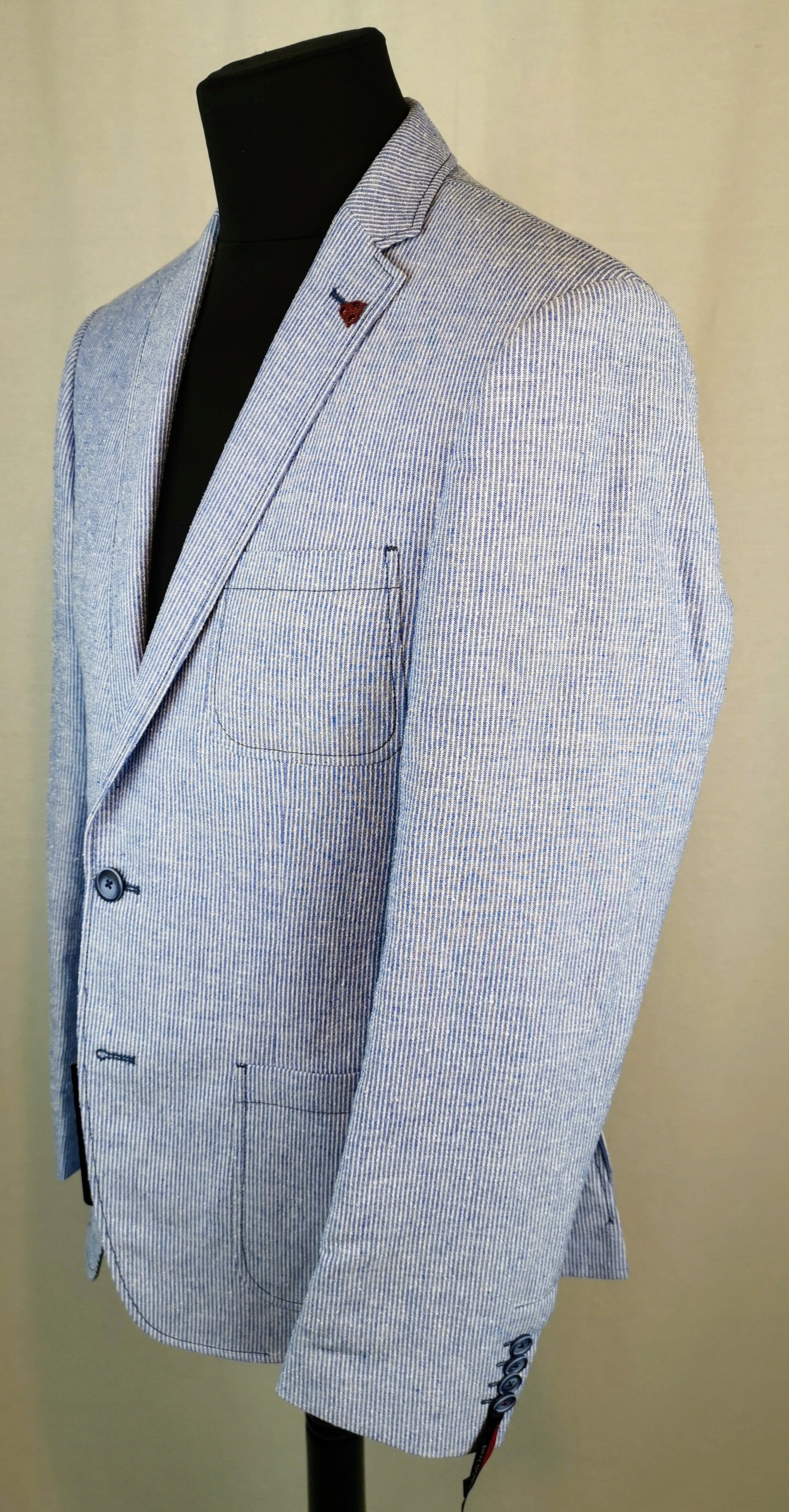 Roy Robson narrow stripe Linen and Cotton Jacket
