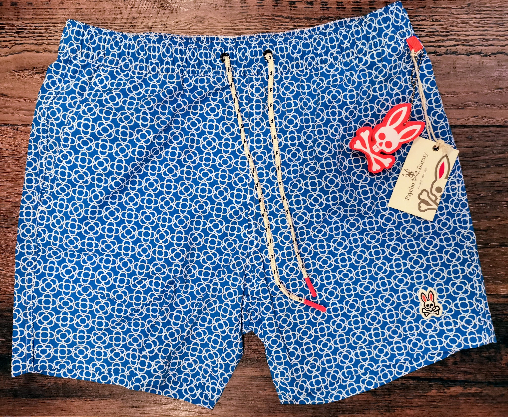 PSYCHO BUNNY SWINLEY SWIM TRUNKS - ELECTRIC BLUE