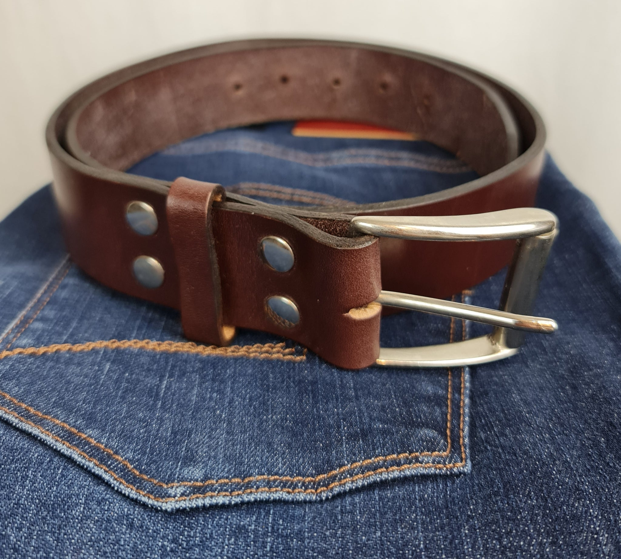 Retreat Clothing Handmade Leather Brown Belt
