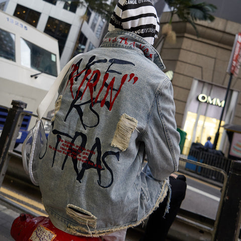 """Kirin"" Denim Jacket - Z3N Fashion"