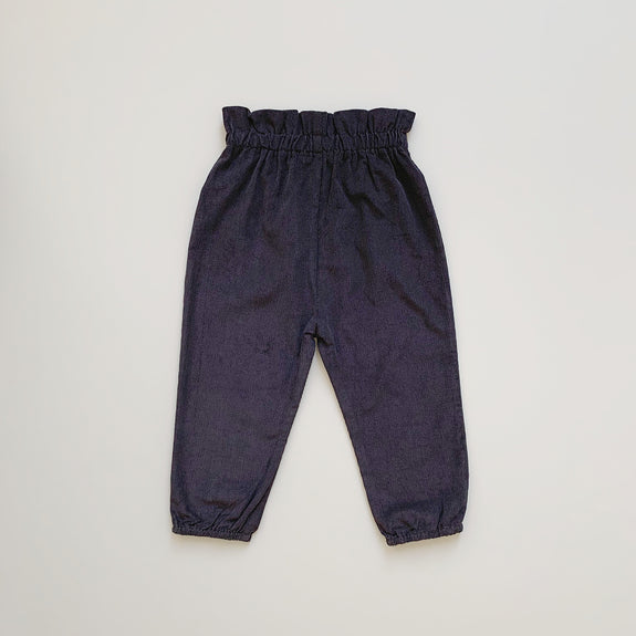 Paperbag Corduroy Pants - Charcoal - Maybellstudio