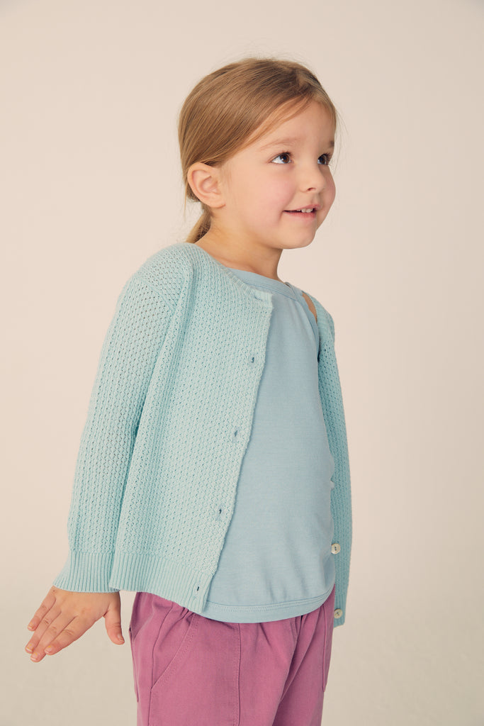 Buttoned cardigan  - Pale Mint - Maybellstudio