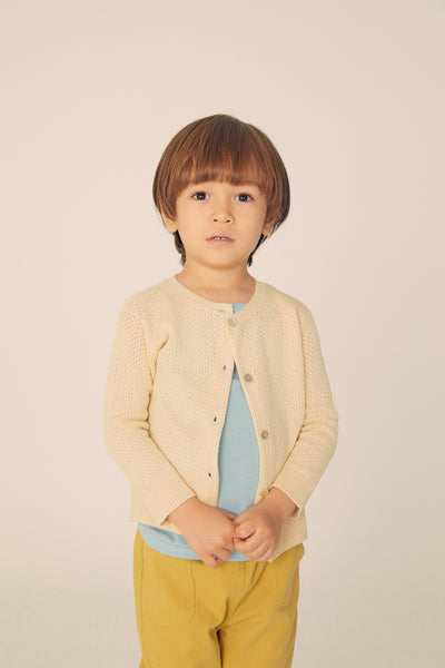 Buttoned cardigan  - Cream - Maybellstudio