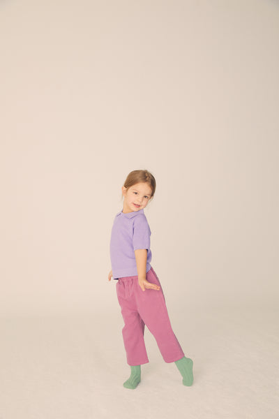 Twill Pants - Faded Rose - Maybellstudio