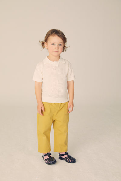 Twill Pants - Warm Olive - Maybellstudio
