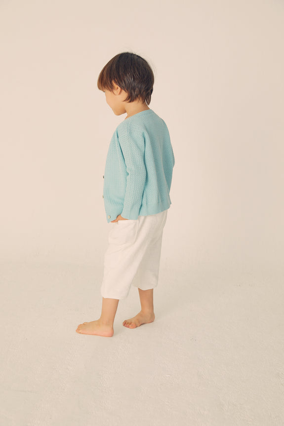 Slub Baggy Pants - Off White - Maybellstudio