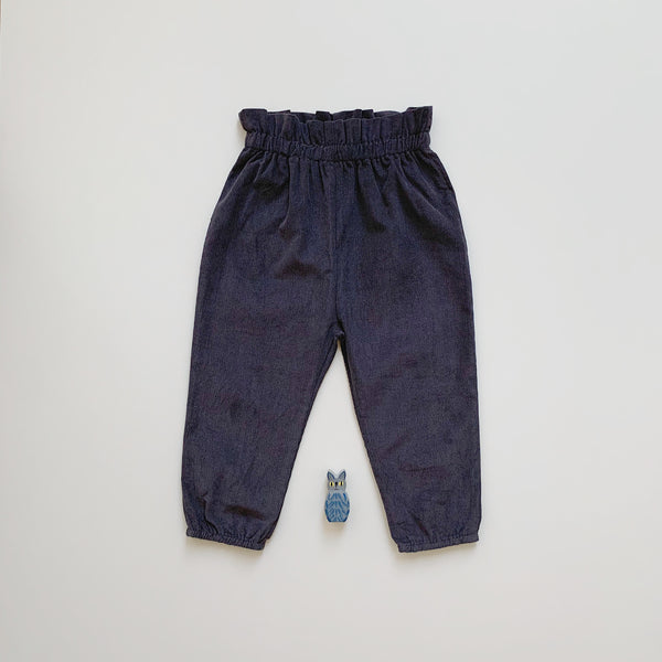 Paperbag Corduroy Pants - Charcoal
