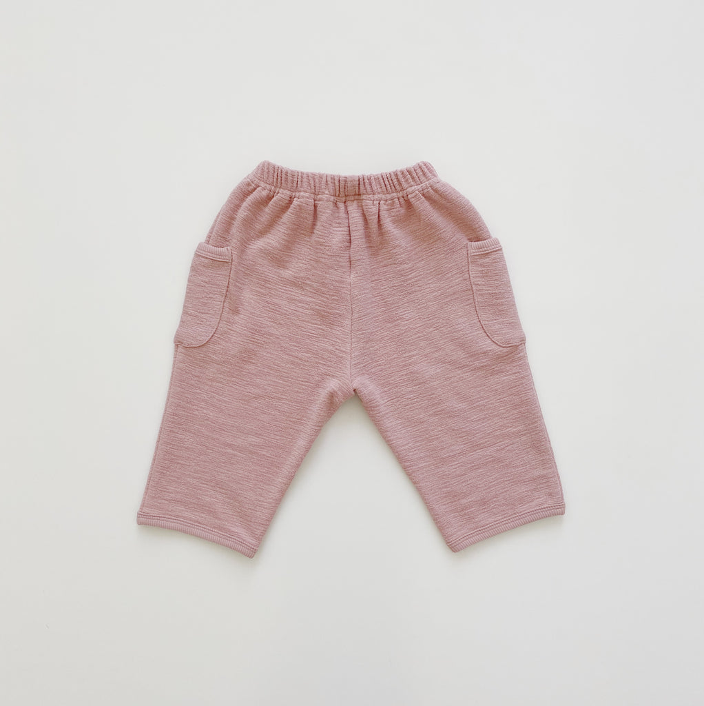 Slub Baggy Pants - Pale Pink - Maybellstudio