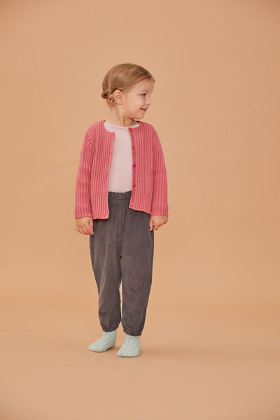 Rib cardigan - Rose - Maybellstudio