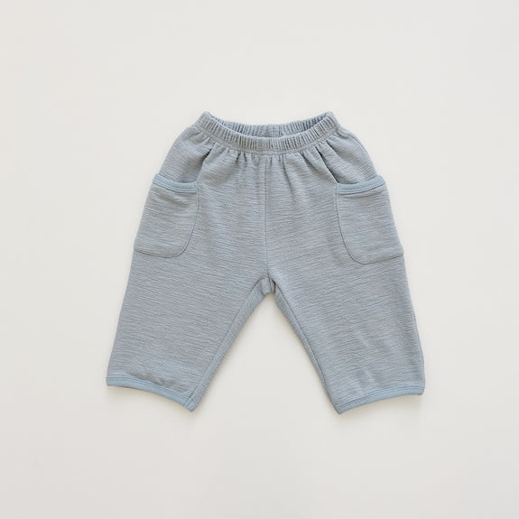 Slub Baggy Pants - Slate Gray - Maybellstudio