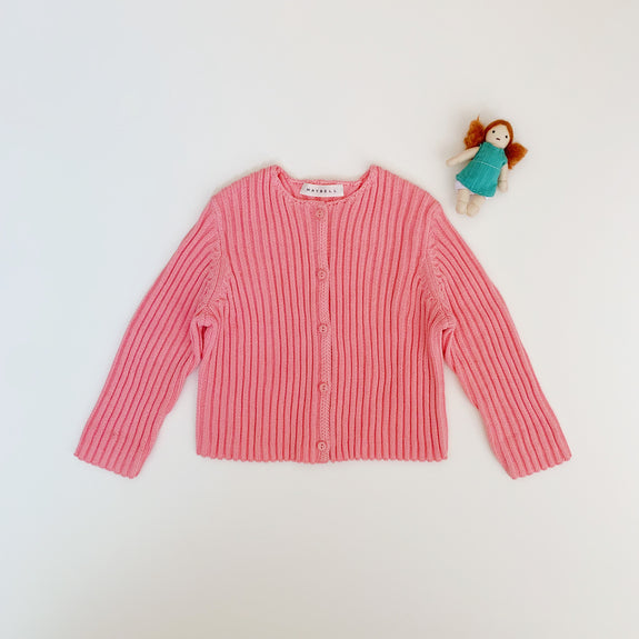 Rib cardigan - Light pink - Maybellstudio