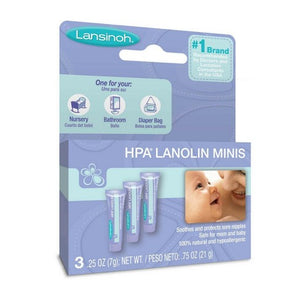 Lansinoh® HPA® Lanolin Minis 7g Tube (Pack of 3) - 100% Natural Lanolin
