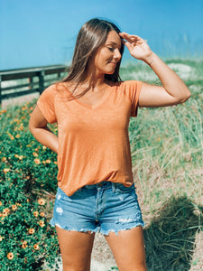 Sienna Burnout Short Sleeve Top