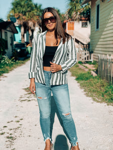 Boss Babe Striped Blazer